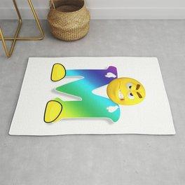 Letter M Alphabet Smiley Monogram Face Emoji Shirt for Men Women Kids Rug