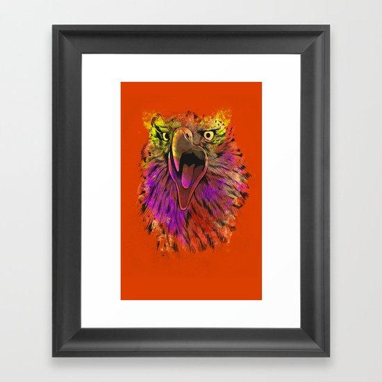 Eagle head Framed Art Print