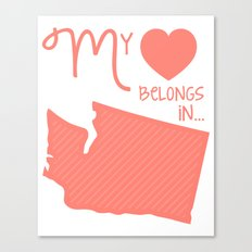 My Heart Belongs in Washington Canvas Print