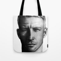wes anderson Tote Bags featuring Anderson. by BrittanyJanet Illustration & Photography