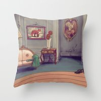 shabby chic Throw Pillows featuring Shabby Chic by Ben Geiger