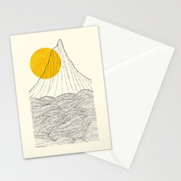 The tall cliff by the sea Stationery Cards