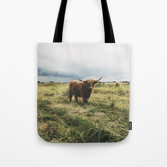 Landscape Bull Tote Bag