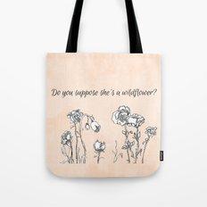 WILDFLOWER // ALICE IN WONDERLAND QUOTE Tote Bag
