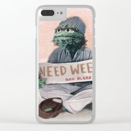 The Grouch Needs Weed Clear iPhone Case