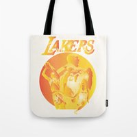 lakers Tote Bags featuring Lakers by Istvan Antal