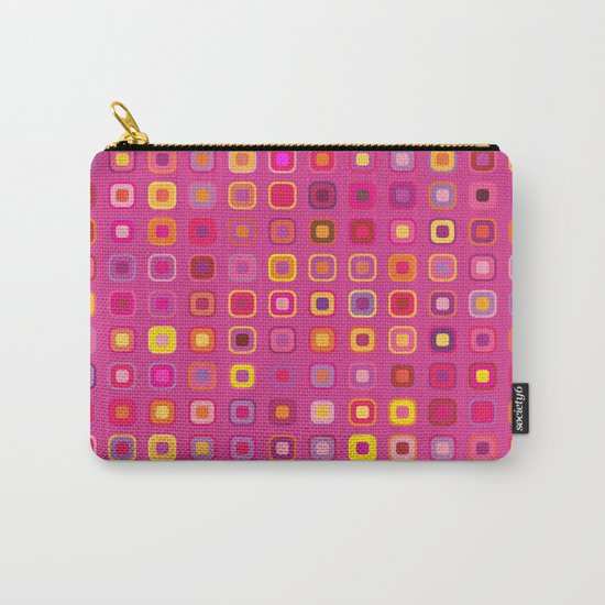 Retro in Pink Carry-All Pouch