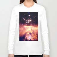 nebula Long Sleeve T-shirts featuring nebUla : Warm Scorpius by GalaxyDreams
