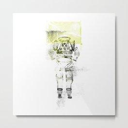 Messager de l'espace Metal Print