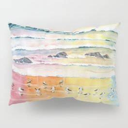Sandpipers on Beach Pillow Sham