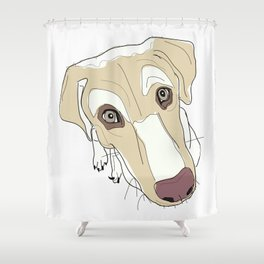 In your face labrador Shower Curtain