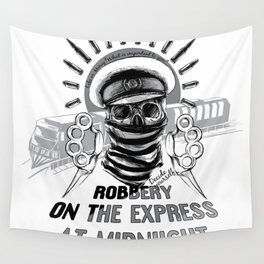 Robbery on the express Wall Tapestry