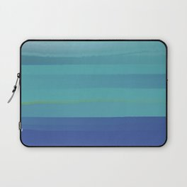 Impressions in Teal and Blue Laptop Sleeve