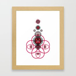Sacred Geometry G6h Framed Art Print