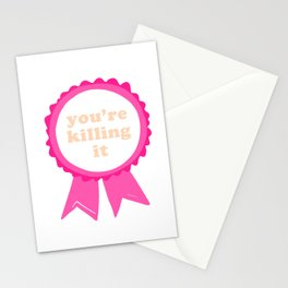AWARD: you're killing it Stationery Cards