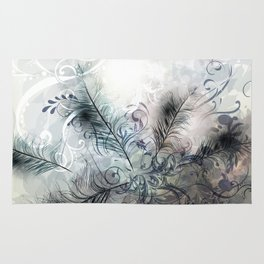 Fashion feather pattern Rug