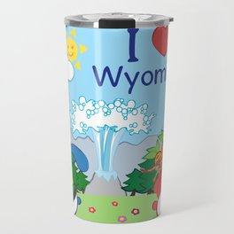 Ernest and Coraline | I love Wyoming Travel Mug