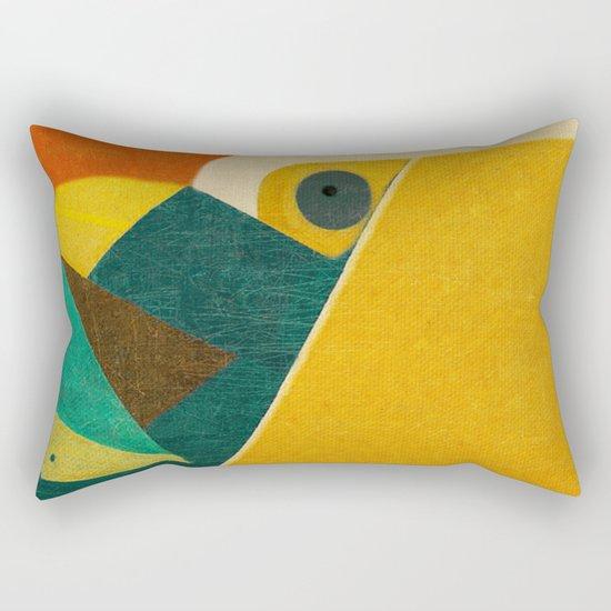 Crazy Seagull Fisher Rectangular Pillow
