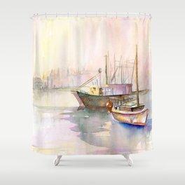 2 Boats Shower Curtain