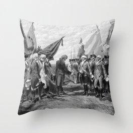 The Surrender Of Cornwallis At Yorktown Throw Pillow
