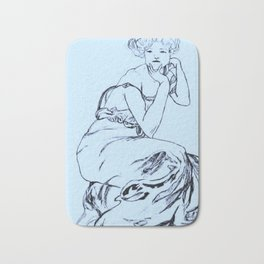 Sketch of Mucha (vertical) Bath Mat