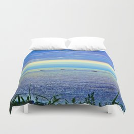Saturated Sunset over the Circle of Rocks  Duvet Cover