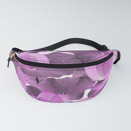 Ethereal Purple Lotus Flower - Tropical, Botanical Art - Purple Water Lily - Lotus Pattern - Violet Fanny Pack