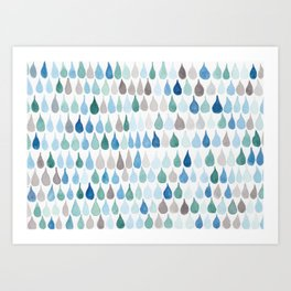 #82. DAN - Rain Drops Art Print