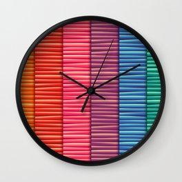 Rainbow Striped Pattern Wall Clock