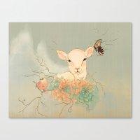 lamb Canvas Prints featuring Lamb by Maribellum