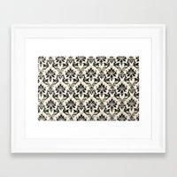 damask Framed Art Prints featuring Damask by MJ Lira Photography