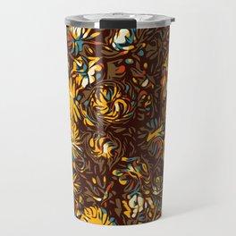 Mustard Rose Travel Mug