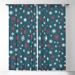 Christmas snow pattern Blackout Curtain