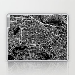 Amsterdam Black Map Laptop & iPad Skin
