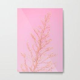 Seeds of Weeds in Pink Metal Print