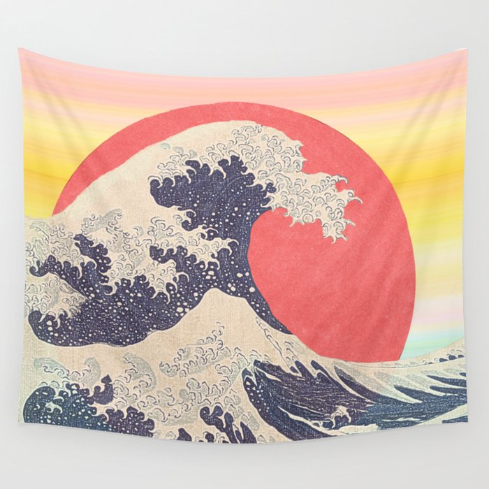 Hokusai revisited Wall Tapestry