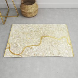 London Map Gold Rug