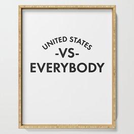 UNITED STATES VS EVERYBODY Serving Tray