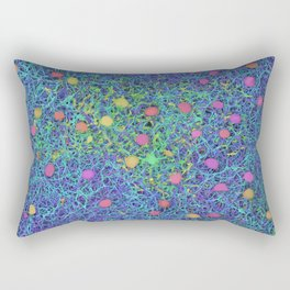 Starry Starry Night Neurons Rectangular Pillow