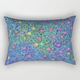 Starry Starry Night Neurons Rectangular Pillow