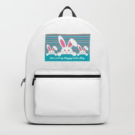 Three Bunnies Wishing You A Happy Easter Day Backpack