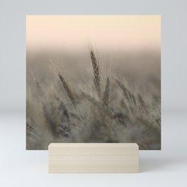 Morning Dew on Wheat Field Mini Art Print
