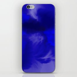 Blue Watercolor Abstract iPhone Skin