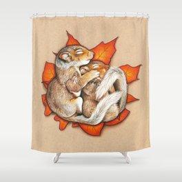 Autumn Squirrels Shower Curtain