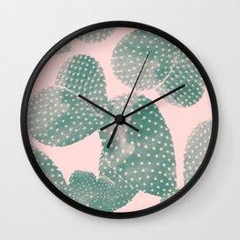 Cacti pink Wall Clock