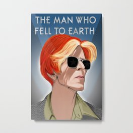 Man Who Fell To Earth Metal Print
