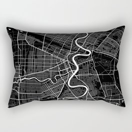 Winnipeg - Minimalist City Map Rectangular Pillow