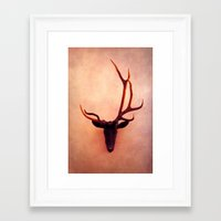 shield Framed Art Prints featuring shield by Claudia Drossert