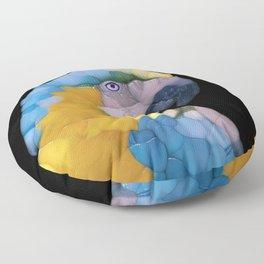 Colorful Glass Parrot Floor Pillow