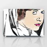 leia iPad Cases featuring Leia by Hey!Roger